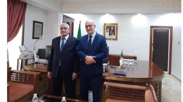 Rencontre de concertation entre le Secrétaire Général du Haut Commissariat à l'Amazighité et le Ministre du Tourisme, de l'Artisanat et du Travail Familial.